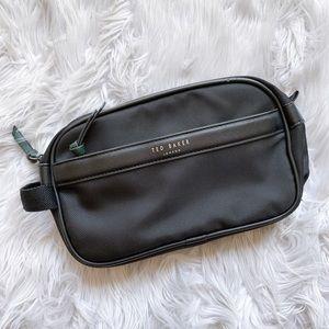 Ted Baker Black Cosmetic Toiletry Travel Zip Bag